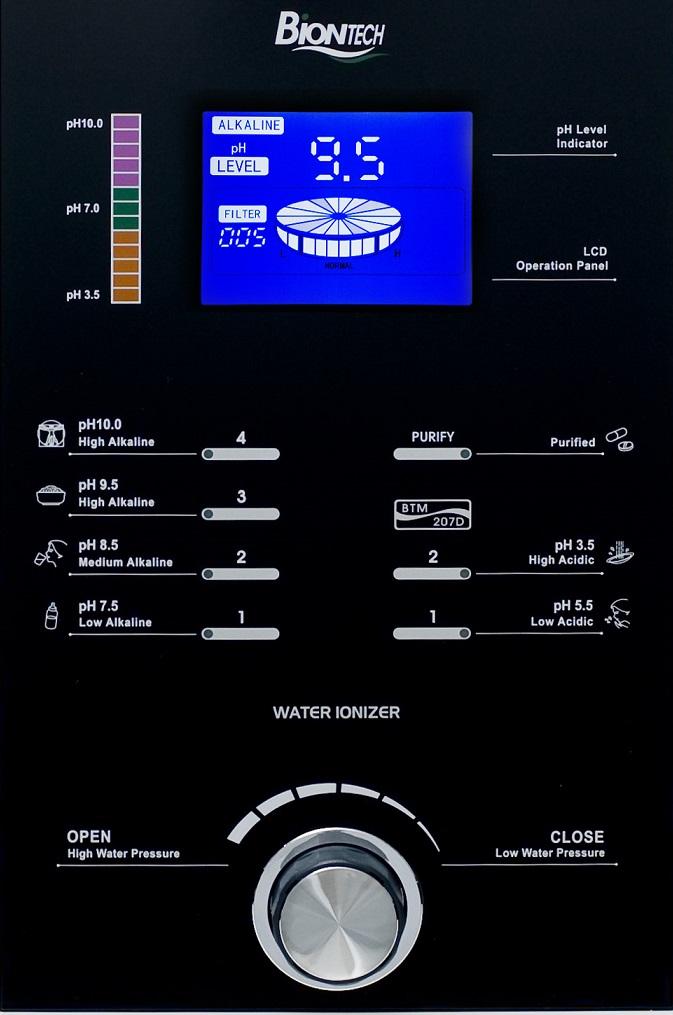 Biontech 207D, jonizator wody, panel sterujący Water Star