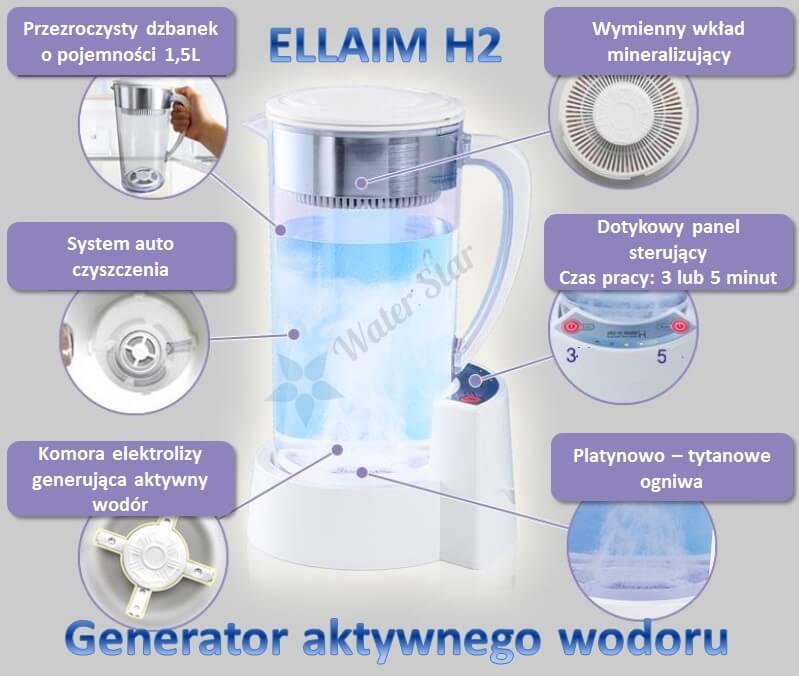 Arui Ellaim jonizator H2 maker generator wodoru redox