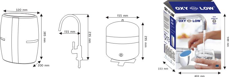 Filtr jonizator wody Oxy redox