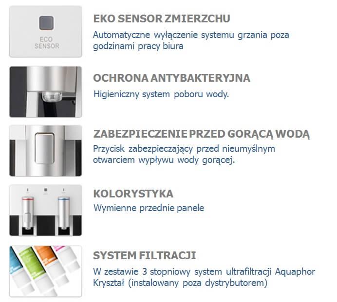 Dystrybutor filtrujacy bezbutlowy Waterpia