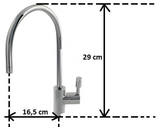Wylewka wody do filtra Morion satyna