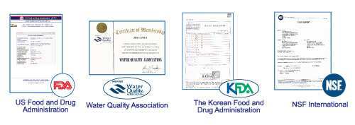 Biocera certyfikaty, dzbanek filtrujący, jonizator