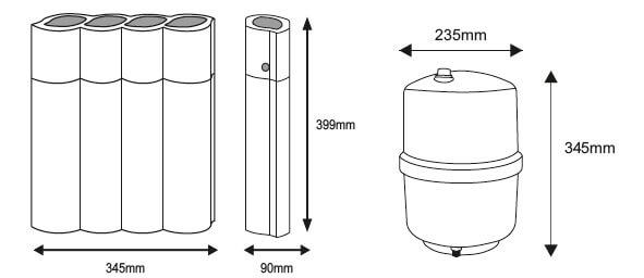Aquafilter Excito Ossmo, filtr Ro, odwrócona osmoza